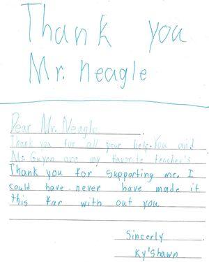 third grade thank you